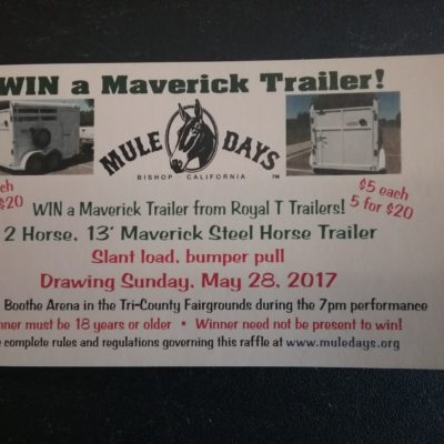 2017 Trailer Raffle Ticket Single